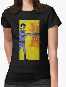 Wonder Twin Zan Day of the Dead Womens Fitted T-Shirt