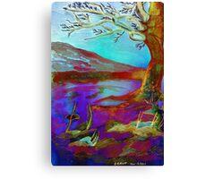 Watercolour Tree Napier University Canvas Print