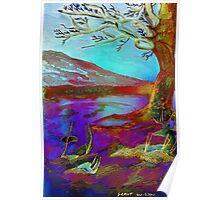 Watercolour Tree Napier University Poster