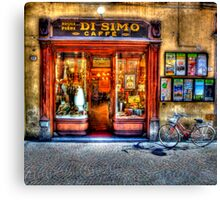 Caffe in Lucca Canvas Print
