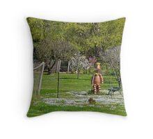 The Potman, Bushy Park, Tasmania, Australia Throw Pillow