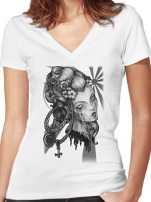 How Eyes Roll Women's Fitted V-Neck T-Shirt