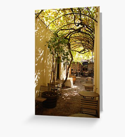 under the grape vine Greeting Card