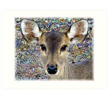 Deer with colour Art Print
