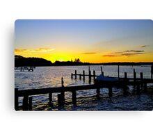 Sunset Manning River Canvas Print