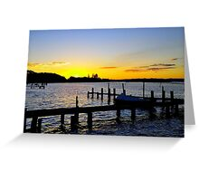 Sunset Manning River Greeting Card