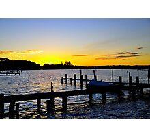 Sunset Manning River Photographic Print