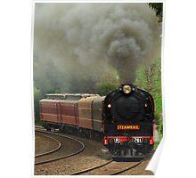 Steam Loco R761 steams into Drouin. Poster