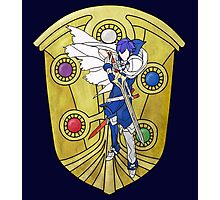 Stained Glass Chrom Photographic Print