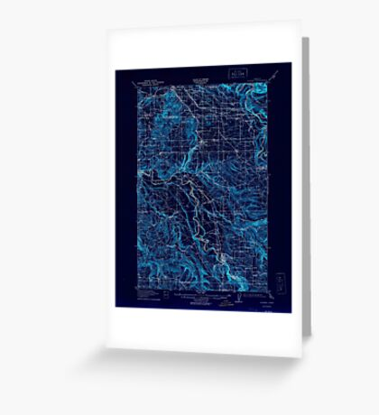 USGS Topo Map Oregon Boring 282271 1914 62500 Inverted Greeting Card