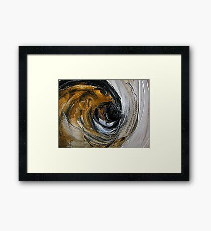 Black dot Framed Print