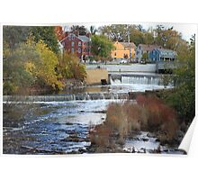 Exeter river flowing down stream Poster