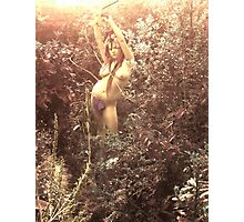 Eve Cutting Back The Garden... Photographic Print
