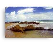 Rock, Sand and Water, Puerto Rico Canvas Print