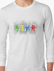 Paint Your Life With Colors Long Sleeve T-Shirt