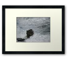 Castle Rock Water Art Framed Print