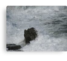 Castle Rock Water Art Canvas Print