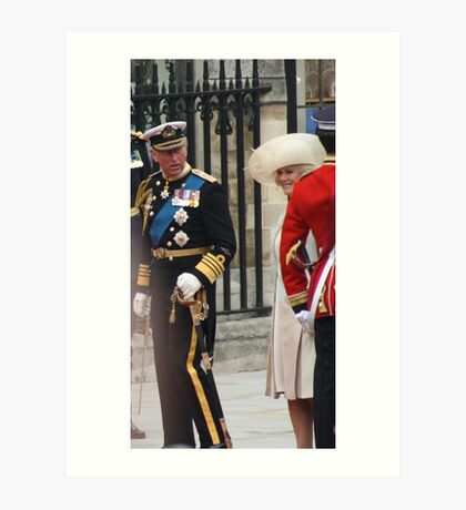 PRINCE OF WALES AND CAMILA PARKER BOWLES Art Print
