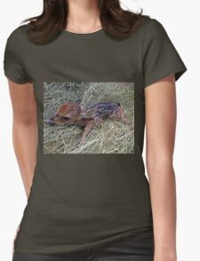 Welcome To The World Little Fawn Womens Fitted T-Shirt