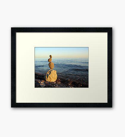 Sunset Zig Zag Framed Print