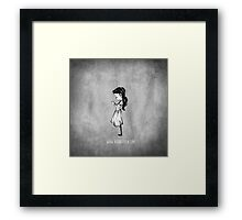 Girl with Necklace Framed Print