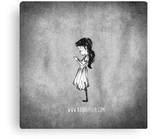 Girl with Necklace Canvas Print