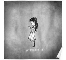 Girl with Necklace Poster