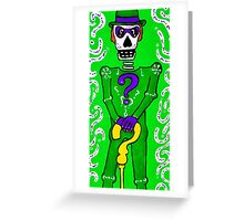 The Riddler Day of the Dead Greeting Card