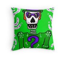 The Riddler Day of the Dead Throw Pillow