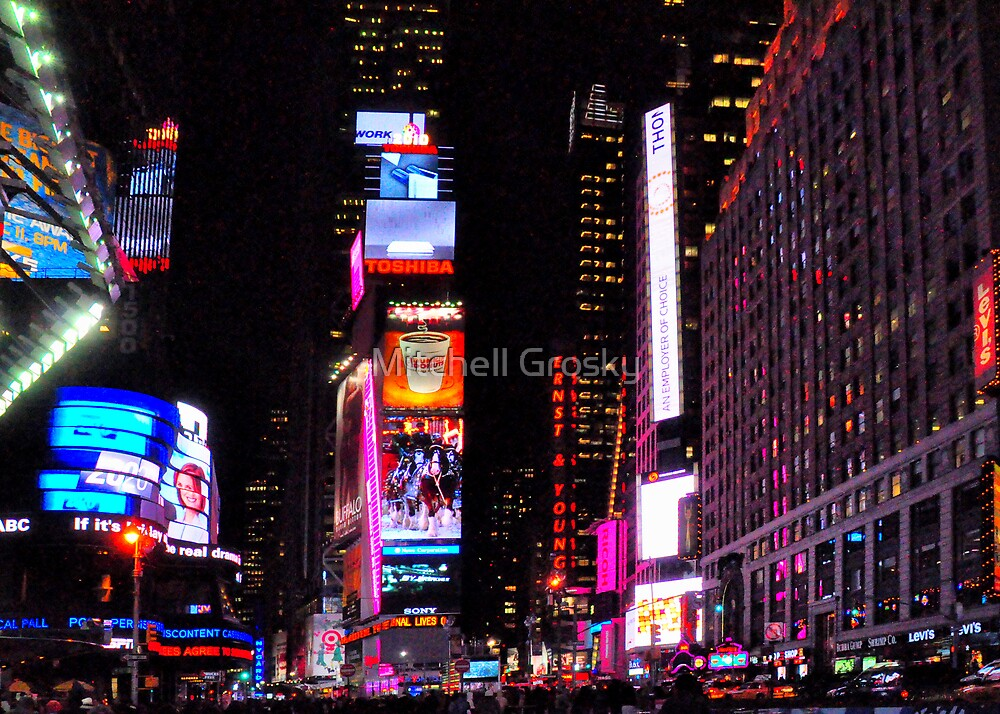 Times Square, New York in December, 2010 by Mitchell Grosky