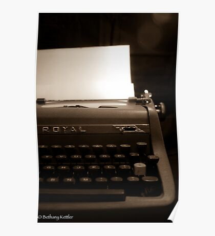 Royal Typewriter Poster