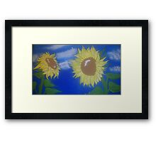 Sunflowers are people too. Framed Print