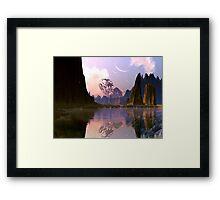 Derelict Spaceship - Lake of Tears Framed Print
