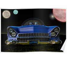 "1955 Ford ""Beatnik Bubbletop"" Intergalactic Planetary Poster"