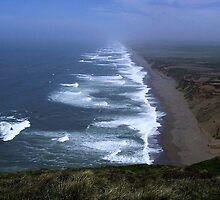 Earth, Wind, Sky & Water - Point Reyes Beach - Point Reyes National Seashore, Marin County, CA by Rebel Kreklow