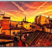 Sunset On The Rooftops by clint hudson