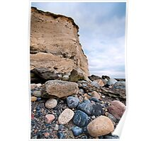 cliffs at silverstrand Poster