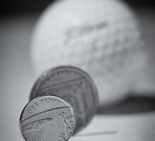Golf and coins, B&W by lautsu