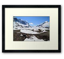 Snow covered glacier Framed Print