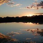 sunset over our pond by SusieG
