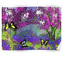 The Butterfly Park Landscape Poster