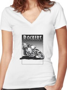 Rockers Women's Fitted V-Neck T-Shirt