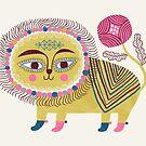 Folk Lion by HappyDoodleLand