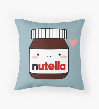 Cute Nutella jar Throw Pillow