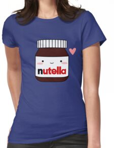 Cute Nutella jar Womens Fitted T-Shirt