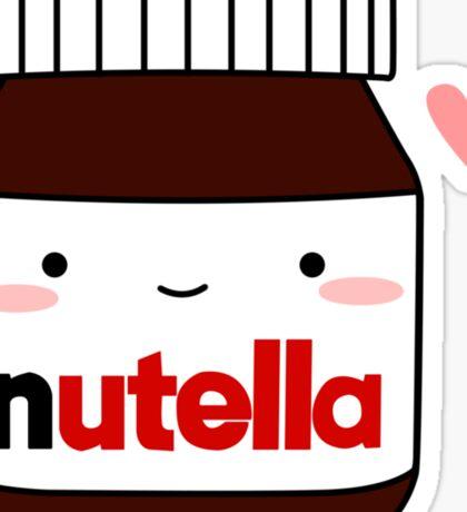 Cute Nutella jar Sticker