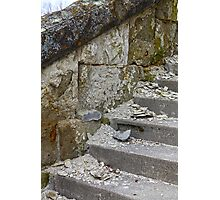 Crumbling On The Steps Photographic Print