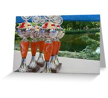 cyclist cups Greeting Card
