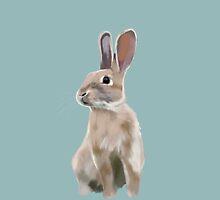 Rabbit drawing by SaryandSaff