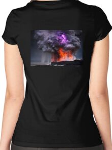 Kilauea Volcano at Kalapana 5 Women's Fitted Scoop T-Shirt